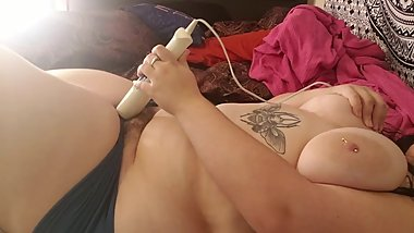 Bbw moaning and cumming in panties