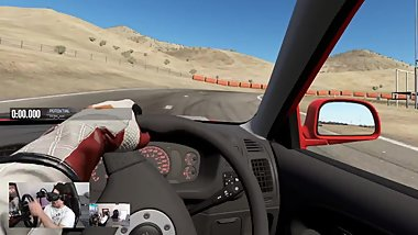 Christmas Virtual Reality Fuck at Willow Springs Track Day