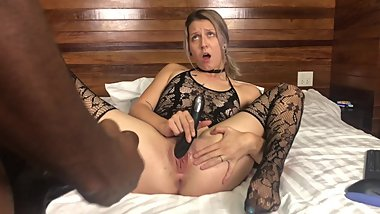Young Nympho Caught Masturbating, Fucked and Creampied By BBC