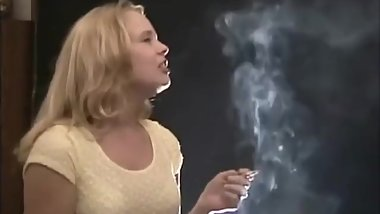 The amazingly sexy young smoker Sarah blowing such hot smoke!