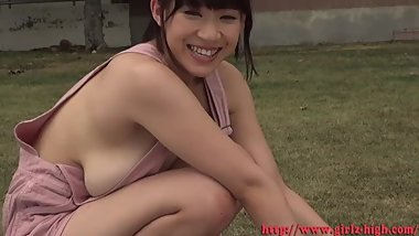 ami-hibiya on the grass most erotic japanese girl