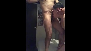 Latino daddy gets head by Latino twink