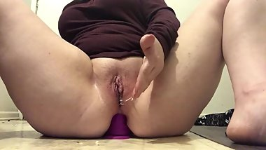 Throbbing pussy after fucking my ass