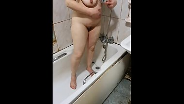 Step son fucking step mom in the shower