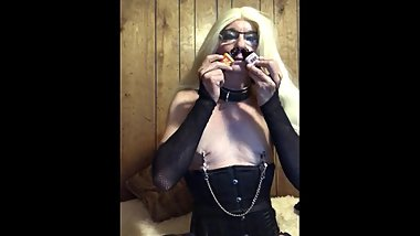 sissy Sagetv public humiliation and extreme popper training Part 1