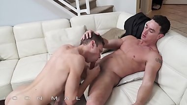 IconMale - Twink rides hunks big hard cock