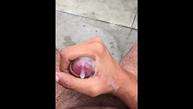 Little Jerking Off with my creamy cum.