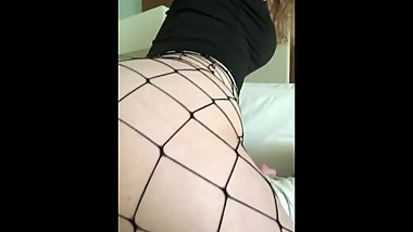 Twerking on BBC in fishnet tights