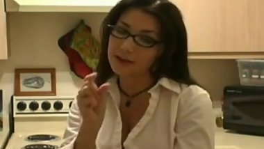 Small penis humiliation in the kitchen