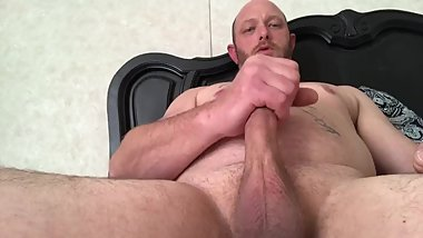 Blowing a load with my hard cock