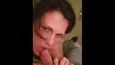 Sub bubble ass sucks cock deep in down her throat