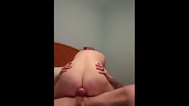 Wife riding my cock with ring