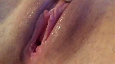 Sexy Teen Play With White Dildo