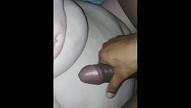 Bbc cumshot on BBW Belly