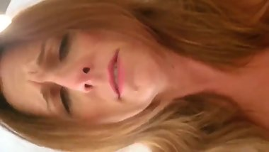 Mature wife with big tits having a real orgasm with her boss