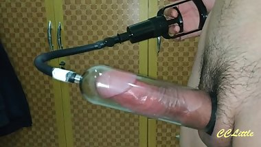 FILLING PENIS PUMP -HOW TO PUMP BIG COCK -By CCLittleG1