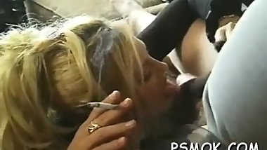 The legendary Brooke Hunter smoking and sucking! Whoa!