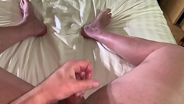 Jacking Off my Shaved Cock 3