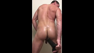 Pierce Paris Stuffs His Ass With Huge Dildos
