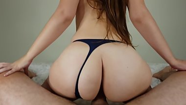 Big ass girl fucks me slowly until i cum in her butthole. Horny1horny2