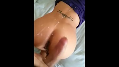 18 years old Amature Teen ! Huge Dick and cum on her Ass!!! -TKB